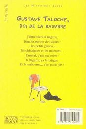 Gustave taloche, roi de la bagarre - 4ème de couverture - Format classique
