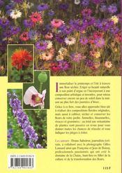 Fleurs sechees ou la culture au bouquet - 4ème de couverture - Format classique