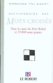Dictionnaire Des Mots Croises - Intérieur - Format classique