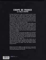 Coupe De France:la Folle Epopee - 4ème de couverture - Format classique