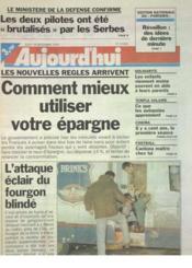Aujourd'Hui N°15960 du 28/12/1995 - Couverture - Format classique