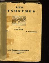 Les Synonymes - Couverture - Format classique