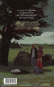 Harry Potter t.7 ; Harry Potter et les reliques de la mort - 4ème de couverture - Format classique
