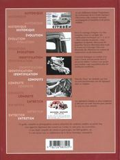 Citroen traction t.i ; 1934-1942 - 4ème de couverture - Format classique