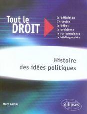 Histoire des idées politiques - Intérieur - Format classique