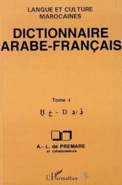 Dictionnaire arabe-francais t.4 - Couverture - Format classique