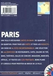 Paris - 4ème de couverture - Format classique