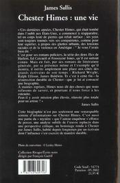 Chester Himes ; une vie - 4ème de couverture - Format classique