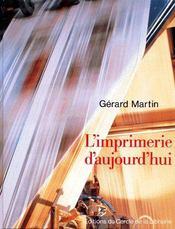 L'Imprimerie D'Aujourd'Hui - Couverture - Format classique