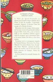 Le palais des saveurs-accumulées - 4ème de couverture - Format classique