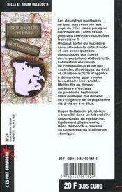 Sortir Du Nucleaire : C Est Possible, Avant La Catastrophe ! - 4ème de couverture - Format classique