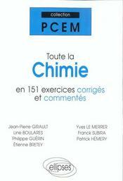 Toute La Chimie En 151 Exercices Corriges Et Commentes - Intérieur - Format classique