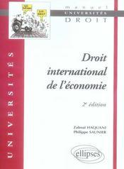 Droit international économique (2e édition) - Intérieur - Format classique