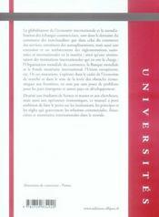 Droit international économique (2e édition) - 4ème de couverture - Format classique