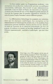 Ethnologie Des Hommes Des Usines Et Des Bureaux - 4ème de couverture - Format classique