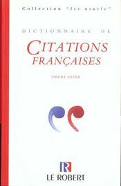 Dictionnaire de citations francaises - Intérieur - Format classique