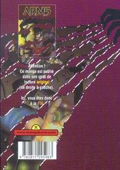 Arms t.5 - 4ème de couverture - Format classique
