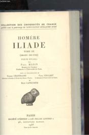 Homere - Iliade Tome Iii - Couverture - Format classique