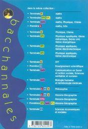 Bacchannales ; Histoire-Géographie ; 1ère Sti/Sms/Stl ; Sujets Du Bac Et Résumé De Cours - 4ème de couverture - Format classique