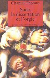Sade, la dissertation et l'orgie - Intérieur - Format classique