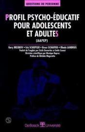 Profil psycho-éducatif pour adolescents et adultes (AAPEP) - Couverture - Format classique