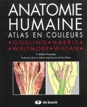 Anatomie humaine ; atlas en couleur - Intérieur - Format classique