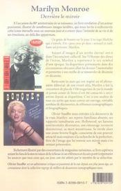 Marilyn Monroe Derriere Miroir - 4ème de couverture - Format classique