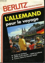 L'Allemand Pour Voyage - Couverture - Format classique