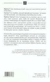 Mylene Farmer, La Part D'Ombre - 4ème de couverture - Format classique