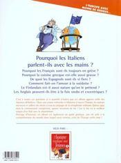 L'Europe Expliquee Aux Europeens T.1 - 4ème de couverture - Format classique