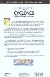 Cyclones Et Tempetes Tropicales - 4ème de couverture - Format classique