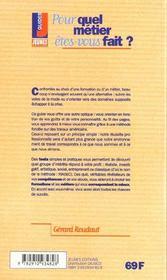Les metiers t.241 ; pour quel metier etes-vous fait - 4ème de couverture - Format classique