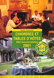 Chambres Et Tables D'Hotes ; Edition 2001 - Intérieur - Format classique
