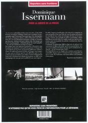 Dominique Issermann Pour La Liberte De La Presse - 4ème de couverture - Format classique