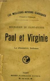 Paul Et Virginie. La Chaumiere Indienne. - Couverture - Format classique