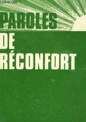 Paroles De Reconfort - Couverture - Format classique