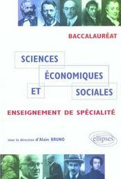 Sciences Economiques Et Sociales Enseignement De Specialite Baccalaureat - Intérieur - Format classique