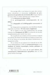 Sciences Economiques Et Sociales Enseignement De Specialite Baccalaureat - 4ème de couverture - Format classique