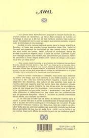 Awal, N 26/2002 - 4ème de couverture - Format classique