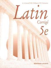 Livre Du Professeur Latin 5eme - Couverture - Format classique