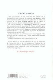 La Republique Du Flou - 4ème de couverture - Format classique