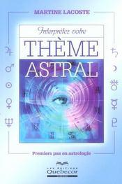 Interpretez Votre Theme Astral - Intérieur - Format classique