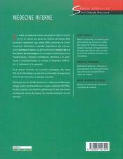 Medecine Interne Une Approche Systematique - Avec Codes Icd-10 Dans Le Texte Et L'Index - 4ème de couverture - Format classique