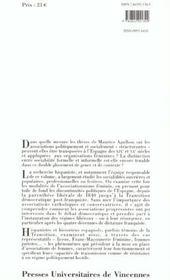 Les espagnoles dans l'histoire ; une sociabilité démocratique XIX-XX siècles - 4ème de couverture - Format classique