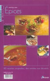 Cuisine Aux Epices - 4ème de couverture - Format classique