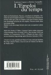 Emploi Du Temps (L) - 4ème de couverture - Format classique