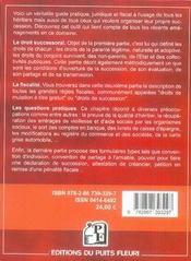 Les successions ; guide juridique et fiscal à l'usage des héritiers (7e édition) - 4ème de couverture - Format classique