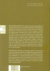 Zeuxis Auto-Analyste - 4ème de couverture - Format classique