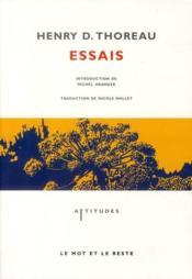 Essais - Couverture - Format classique