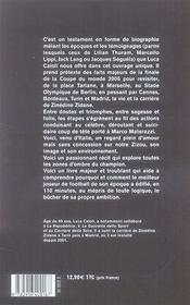 Zidane, 110 minutes pour partir - 4ème de couverture - Format classique